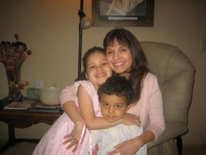 Me with two of my grandchildren.