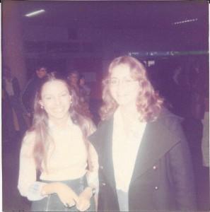 Sherry and Karen at the Frankfurt airport.